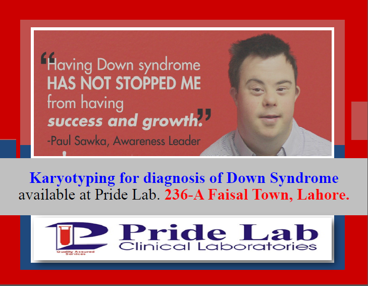 Karyotyping for diagnosis of Down Syndrome available at 236